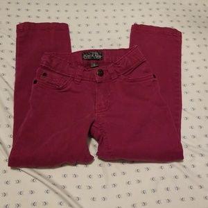 Mauve colored jeans pants